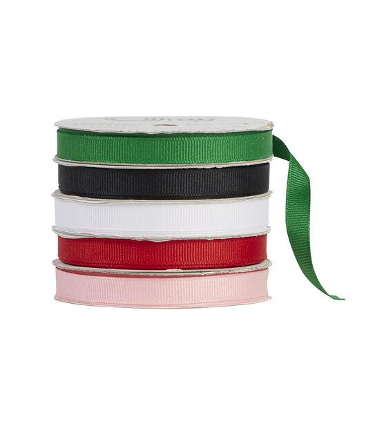 3 Yards Offray 1.5 Wide Grosgrain Ribbon Green Tiger Stripe Print