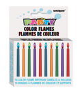 Unique Industries Color Flame Birthday Candles & Holders 10 pcs