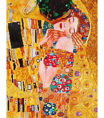 "Diamond Embroidery Facet Art Kit 31.5""X25""-The Kiss (Klimpt)"