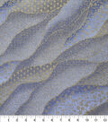 Premium Cotton Fabric -Blue Packed Waves