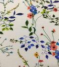 Knit Prints Rayon Spandex Fabric-White Dainty Floral