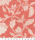 Waverly Upholstery Décor Fabric 9\u0022x9\u0022 Swatch-Stencil Vine Coral