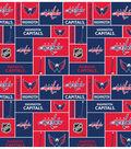 Washington Capitals Fleece Fabric 60\u0022-Block