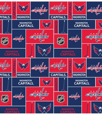 Washington Capitals Fleece Fabric -Block