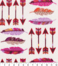 Anti-Pill Plush Fleece Fabric-Boho Arrows