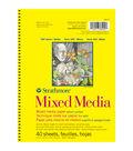 Strathmore Mixed Media Vellum Paper Pad 5.5\u0022X8.5\u0022-90lb 40 Sheets