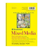 """Strathmore Mixed Media Vellum Paper Pad 5.5""""X8.5""""-90lb 40 Sheets, , hi-res"""