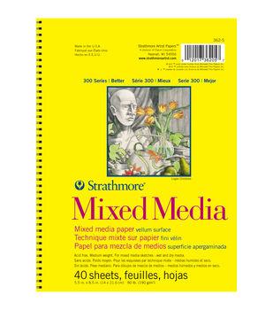 "Strathmore Mixed Media Vellum Paper Pad 5.5""X8.5""-90lb 40 Sheets"