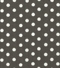 Wide Cotton Fabric-White Dots on Gray
