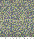Quilter\u0027s Showcase Cotton Fabric-Packed Flowers Lavender Mint