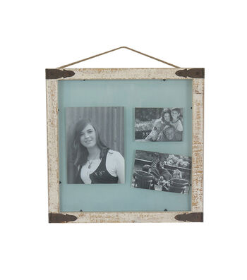 Save the Date Rustic Glass Photo Wall Frame