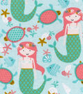Snuggle Flannel Fabric 42\u0022-Mermaid Sea Party