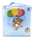 Vervaco 22\u0027\u0027x24.75\u0027\u0027 Shaped Rug Latch Hook Kit-Bear With Balloons