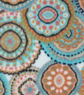 Anti-Pill Fleece Fabric -Wildflower Medallions
