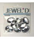 18x25mm Oval Acrylic Stone  Crystal
