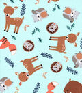 Nursery Cotton Fabric-Eamon Tossed Animals