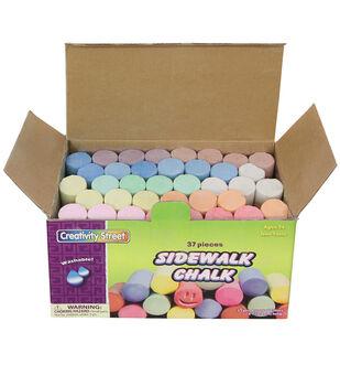 Sidewalk Chalk, Assorted, 37 Per Box, 3 Boxes