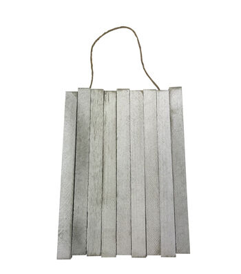 Hanging Wood 9x12'' Pallet-White