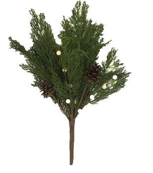 Handmade Holiday Homestead 20'' Cypress Pine & White Berry Bush