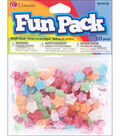 Fun Pack Star Beads 125/Pkg-Multi Glitter