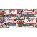 Patriotic Cotton Fabric 43\u0027\u0027-Land of The Free
