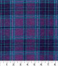 Snuggle Flannel Fabric 42\u0022-Purple Aqua Plaid