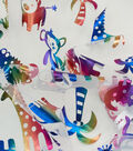 Specialty Netting Fabric -Safari Animals Screen Print