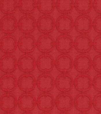 """Waverly Upholstery Fabric 57""""-Full Circle/Red Buoy"""