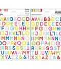 The Mix No. 1 Vellum Stickers 6\u0022X8\u0022-Alpha