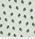 Christmas Cotton Fabric-Season\u0027S Greetings Holly