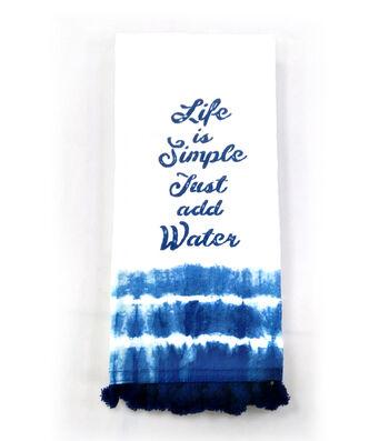 Indigo Mist Life is Simple Stripe Towel