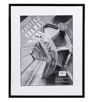 Harbortown Industries Mylar Poster Frame 16''x20''-Black & Clear