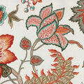 Waverly Sun N Shade Fabric 9\u0022x9\u0022 Swatch-Jacobean Flair Peachtini