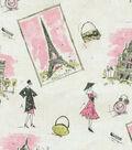 Waverly Lightweight Decor Fabric 57\u0022-Tres Chic Black/Pink