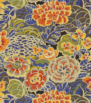 """Waverly Upholstery Fabric 54""""-Pieceful Porcelain"""