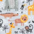 Nursery Flannel Fabric-Safari Animals