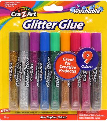 CraZart 9ct Glitter Glue Tubes