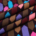 Silky Stretch Textured Crepe Fabric-Multicolor Prism