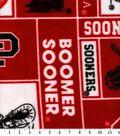 University of Oklahoma Boomer Sooners Fleece Fabric -Block