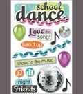 Paper House 3-D Sticker-School Dance