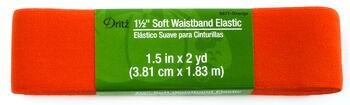 """Dritz 1 1/2"""" Soft Waistband Elastic Orange"""