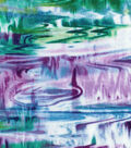 Modern Cotton Fabric -Purple Watercolor Oil Slick