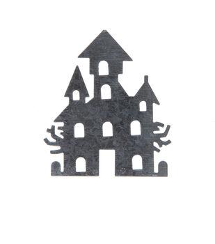 Maker's Halloween Craft 3''x3.5'' Galvanized Haunted House