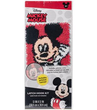 """Disney Latch Hook Kit 12""""X12""""-Mickey Mouse"""