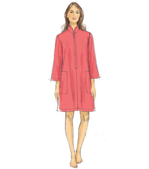 Vogue Pattern V9232 Misses' Zip-Front Caftans with Pockets-Size 16-26