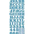 Sticko - Blue Bookman Glitter Alphabet Stickers