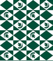 "Michigan State University Spartans Vinyl Fabric 52""-Logo, , hi-res"