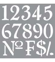 DecoArt Americana Decor 12''x12'' Stencil-Olde World Numbers, , hi-res