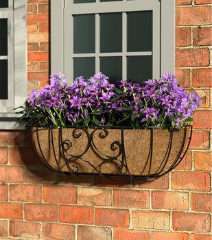 In the Garden 30'' Scroll Window Basket