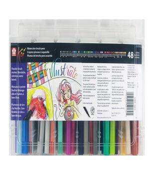 Koi 48 pk Coloring Brush Pens with Storage Case